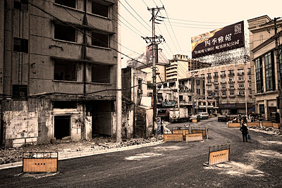 Straßenbau in Shanghai - p1980239 von David Breun