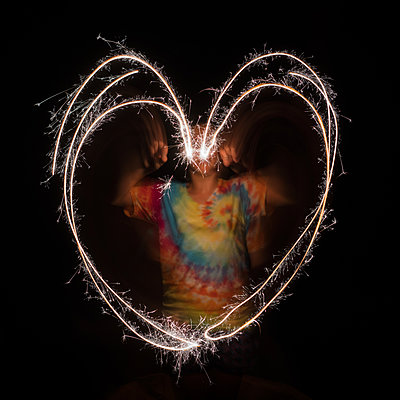 Heart Sparklers - p1503m2015852 by Deb Schwedhelm