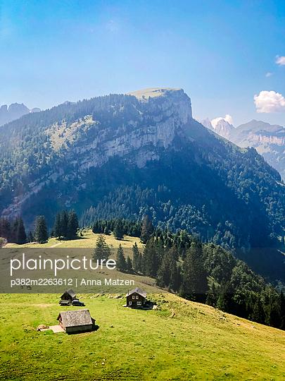 Mountain huts in Appenzell - p382m2263612 by Anna Matzen