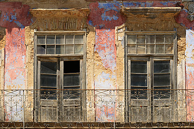 unrestored building in old town; olhao faro portugal - p44213670f by Michael Thornton