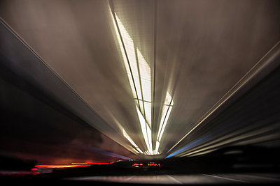 Light trails - p445m931983 by Marie Docher