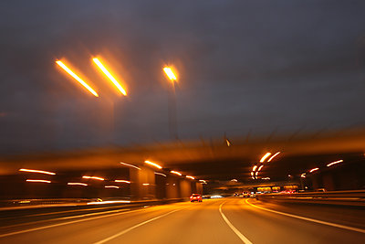Berlin highway at night - p1258m1515468 by Peter Hamel