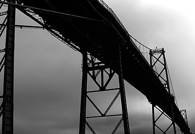 The MacDonald Bridge in Halifax USA - p1072m828916 by Clive Branson