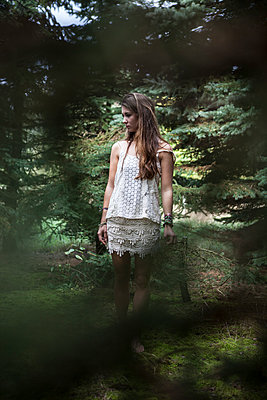 Girl in forest - p502m966220 by Tomas Adel