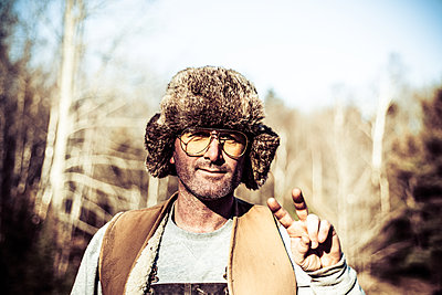 Hipster in the The Woods - p1086m1539656 by Carrie Marie Burr