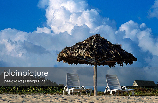 Beach chairs, Santa Maria, Cuba