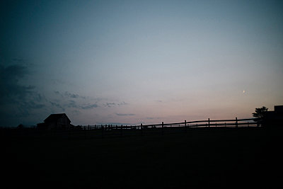Barn at dusk - p1274m1105237 by caitlin strom