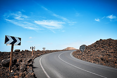 Country road in Lanzarote - p851m1362494 by Lohfink