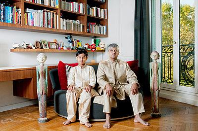 Father and son  - p864m1540035 by Michiru Nakayama