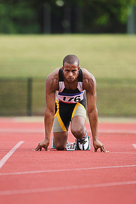 Runner at Starting Block  - p3071308f by Koji Aoki