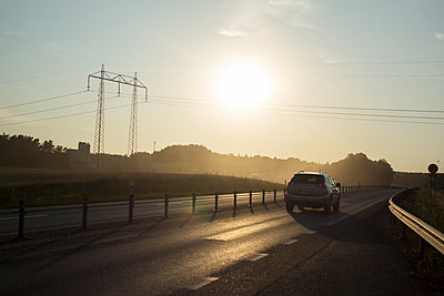 Road at dusk - p312m1470941 by Christina Strehlow