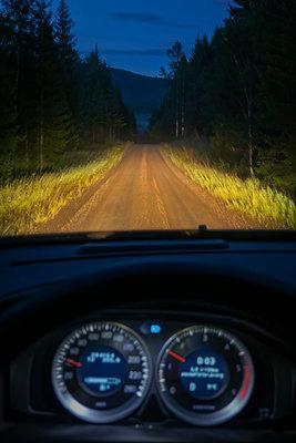Driving on a dirt road - p1418m2203491 by Jan Håkan Dahlström