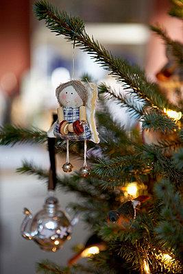 Handmade Christmas tree angel - p349m789714 by Brent Darby