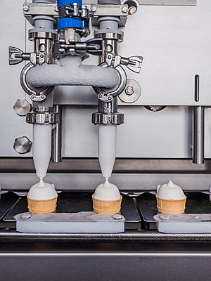 Ice cream factory, soft serve - p390m2013416 by Frank Herfort