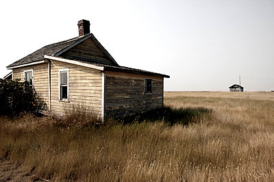 Abandoned Building In Ghost Town Of Robsart, Saskatchewan, Canada - p442m837354f by Greg Huszar Photography