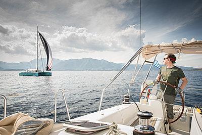 Segeltörn vor Griechenland - p948m1355263 von Sibylle Pietrek