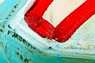 New Mexico, Abstract Of Graffiti On Old Wall. - p442m934906 by Ray Laskowitz