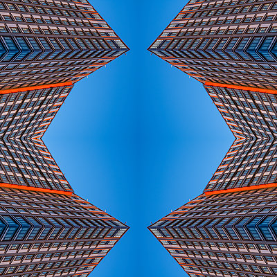 Abstract Architectural Kaleidoscope Boston - p401m2284141 by Frank Baquet