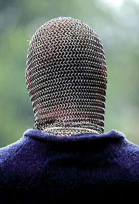 A soldier wearing chainmail in Sweden - p3489898 by Jonas Tufvesson
