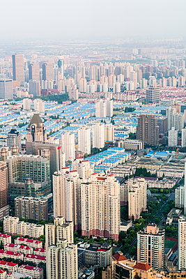 Shanghai from above - p795m1161277 by JanJasperKlein
