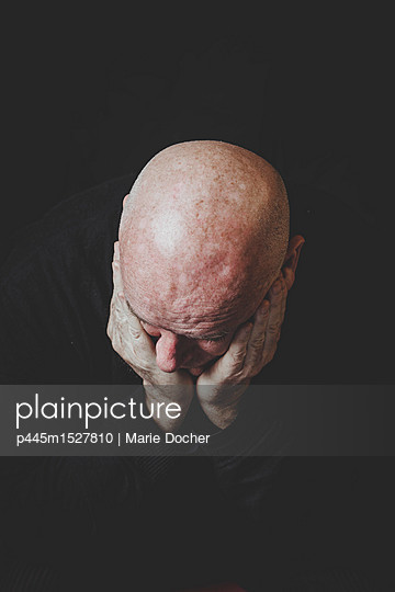Bald Head thinking - p445m1527810 by Marie Docher