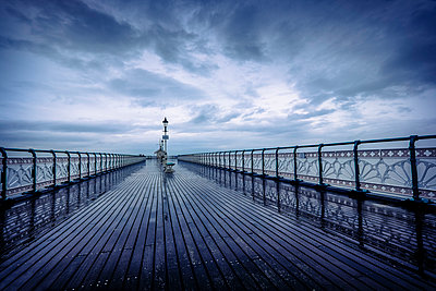 Penarth Pier on a stormy day - p1228m1058069 by Benjamin Harte