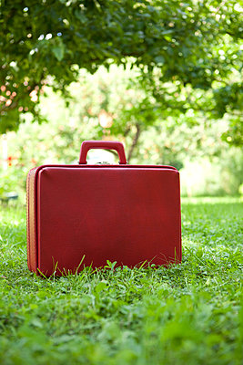 Red suitcase - p4541407 by Lubitz + Dorner