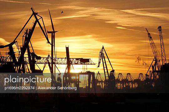 Sunset at the harbour - p1696m2292974 by Alexander Schönberg