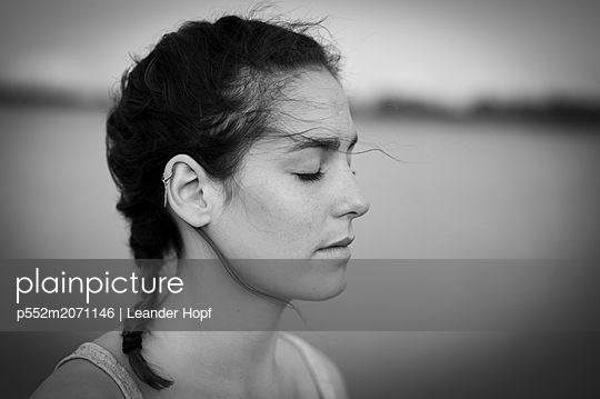 Closed-eyes - p552m2071146 by Leander Hopf