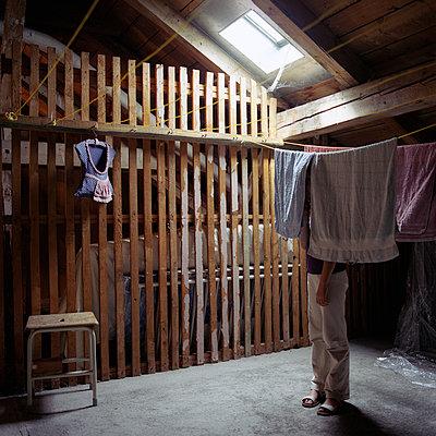 A child Hidden in the attick - p1610m2185273 by myriam tirler