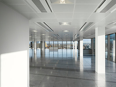 Empty office space, No.1 New York Street, Manchester, Greater Manchester. - p855m713227 by Daniel Hopkinson