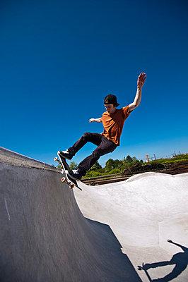 Skateboard fahren - p2200804 von Kai Jabs