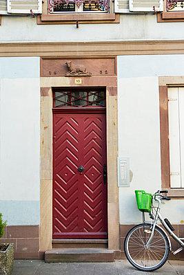 France, Strasbourg, La Petite France, red old entry door - p300m1014985 by JLPfeifer