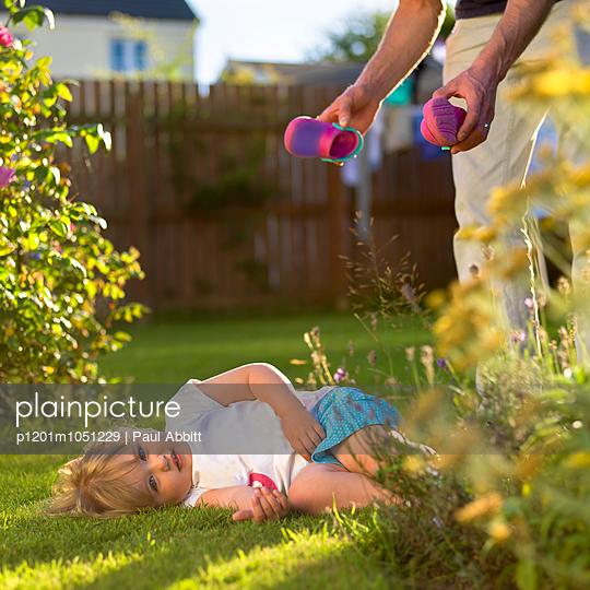 Girl misbehaving  - p1201m1051229 by Paul Abbitt