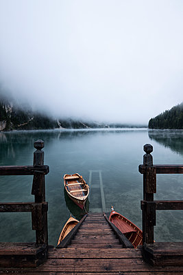 Jetty at the Pragser Wildsee - p1383m1496362 by Wolfgang Steiner