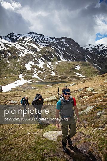 Hiking In The Alps - p1272m2196878 by Steffen Scheyhing