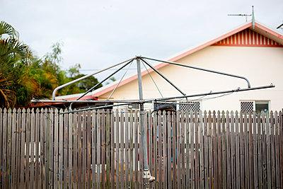 Hoist in back yard - p1072m905536 by Mia Mala McDonald