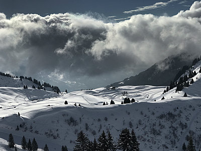 Snow in the mountains - p1048m2016528 by Mark Wagner