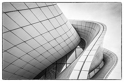 Azerbaijan, Baku, Heydar Aliyev Cultural Center, building designed by Zaha Hadid - p651m2033252 by Walter Bibikow