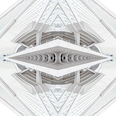 Abstract kaleidoscope pattern Liège-Guillemins station in Liège - p401m2207481 by Frank Baquet