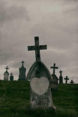 Cemetery on the island of Barra, Scotland - p470m2108841 by Ingrid Michel