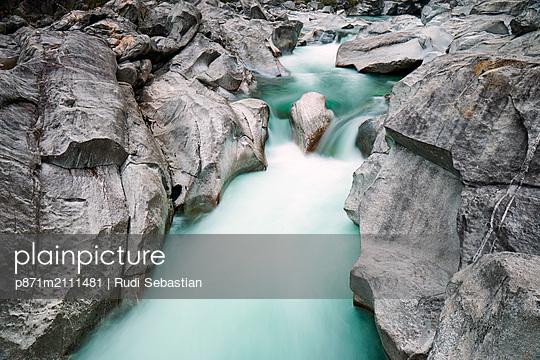 Verzasca River in the Swiss Alps, Ticino, Switzerland - p871m2111481 by Rudi Sebastian