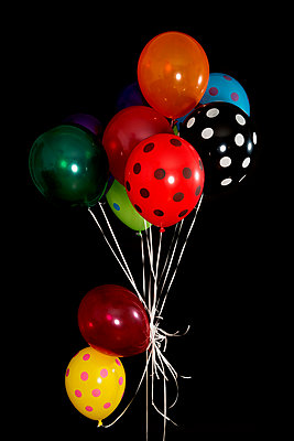Colouful balloons - p451m953151 by Anja Weber-Decker