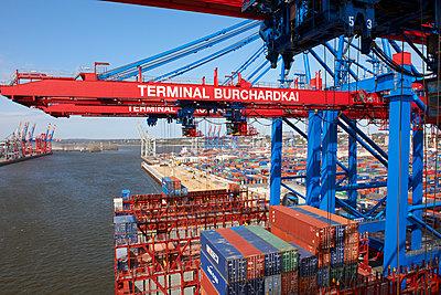 Containerterminal Hamburg - p1099m1525124 von Sabine Vielmo