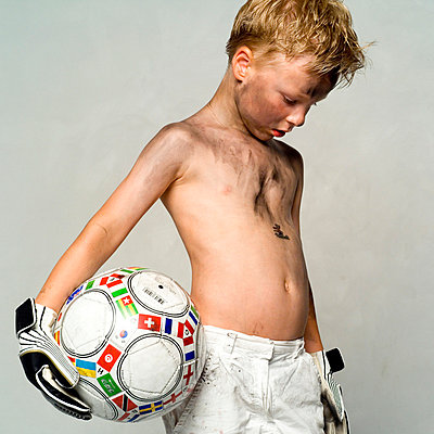 Little boy with football - p5760001 by Stefanie Link
