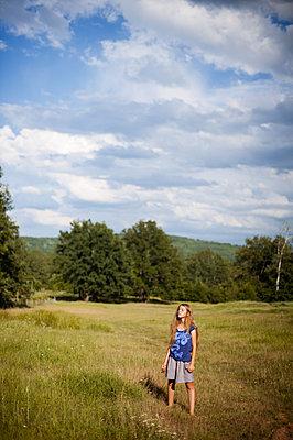 Girl on a pasture - p1412m1539598 by Svetlana Shemeleva