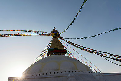 Stupa in the district Bodnath of Kathmandu - p949m948557 by Frauke Schumann