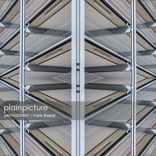 Abstract parking garage kaleidoscope - p401m2219841 by Frank Baquet