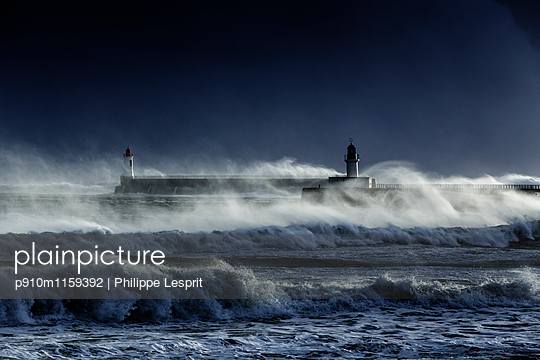 Stormy sea - p910m1159392 by Philippe Lesprit