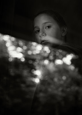 Portrait in Light and Shadow - p1503m2031855 by Deb Schwedhelm